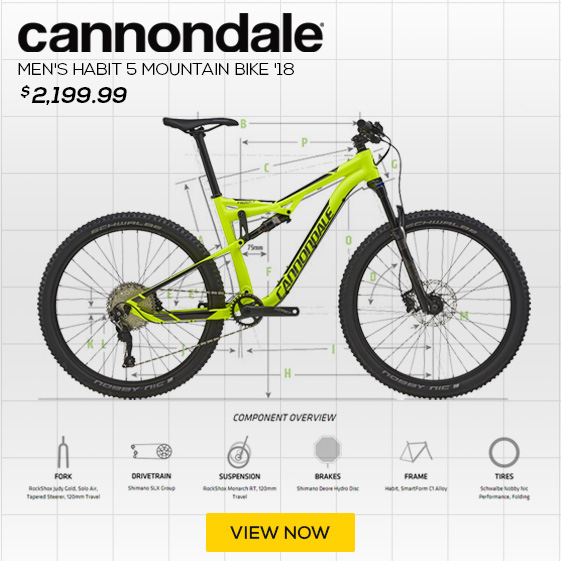 Cannondale Men's Bad Habit 5 Mountain Bike '18