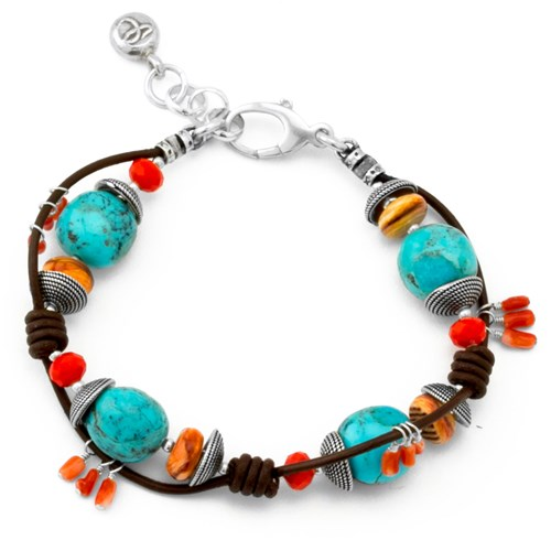 Leather & Turquoise Bracelet 10796B