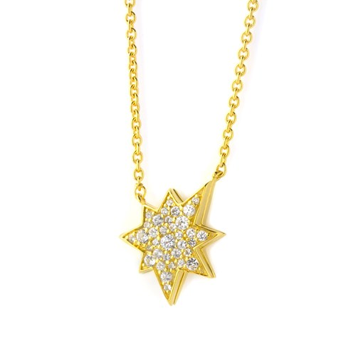 Petra Azar Lucky Star Gold Necklace