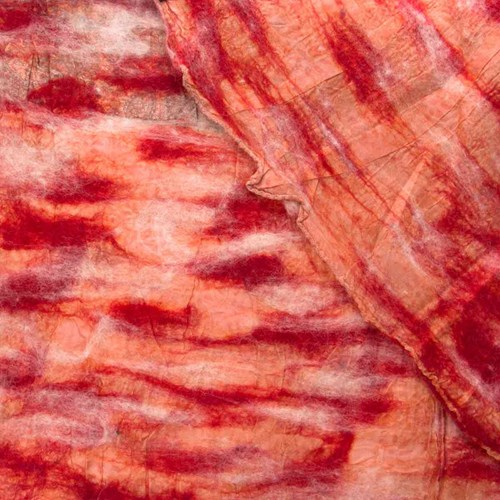 Red Paisley Nuno Felted Scarf 10318B