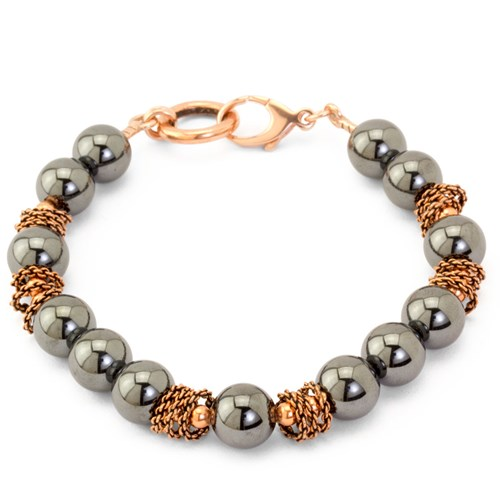 The Goddess Collection Hematite & Copper Bracelet 10797B