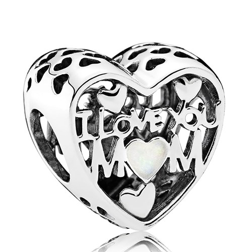 PANDORA Love for Mother, Silver Enamel Charm