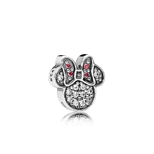 PANDORA Disney Sparkling Minnie Icon CZ Petite Locket Charm 796346CZ