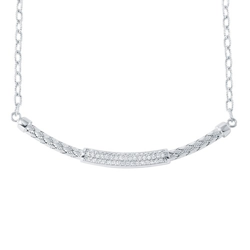 Nardini CZ Bar Necklace