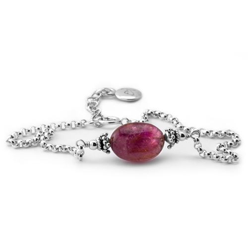 eb2d42721 Elisa Ilana Pink Petite Tourmaline Bracelet ...
