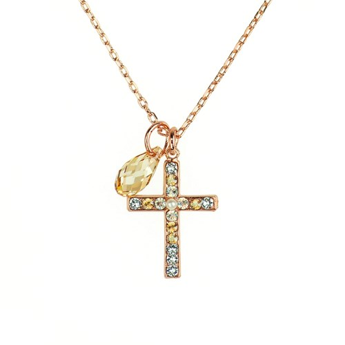 Mariana Seashell Cross Necklace N-5247-1-39361-RG