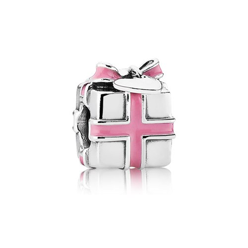PANDORA Wrapped with Love Pink Enamel Charm