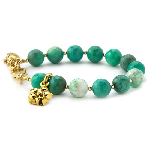 Lollies Teal Glass Bracelet