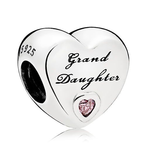 PANDORA Granddaughter's Love Pink CZ Charm