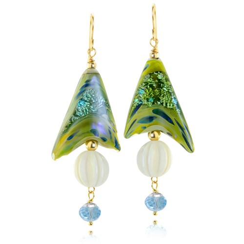 The Goddess Collection SWAROVSKI Pearl and Glass Earrings 10746E