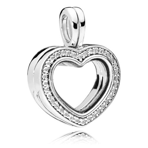 PANDORA Floating Heart Locket Pendant 797248CZ