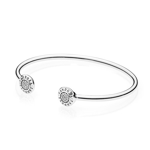 PANDORA Signature Bangle with Clear CZ