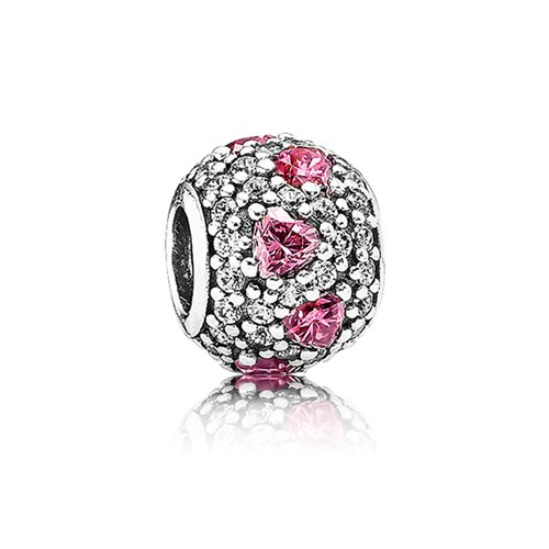 PANDORA Shimmering Heart with Fancy Pink Charm