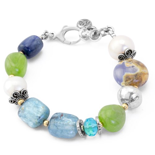 Impressionist Collection Chalcedony & Kyanite Bracelet 10828B