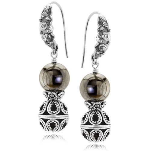The Goddess Collection Hematite Earrings 10809E