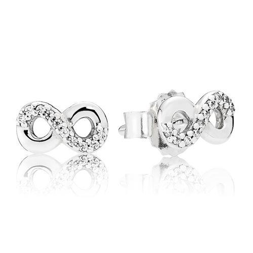 9e387f160 PANDORA Infinity Love with Clear CZ Stud Earrings