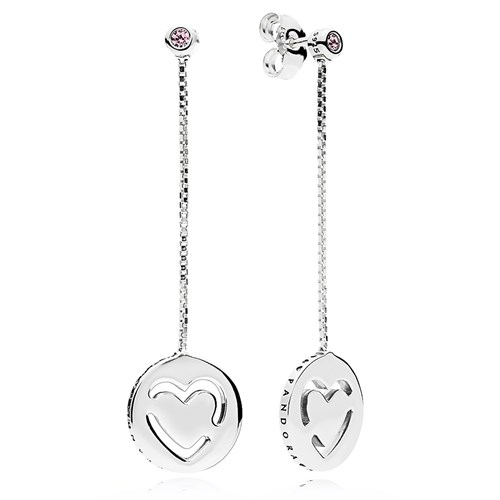 PANDORA Pure Love Dangle Earrings