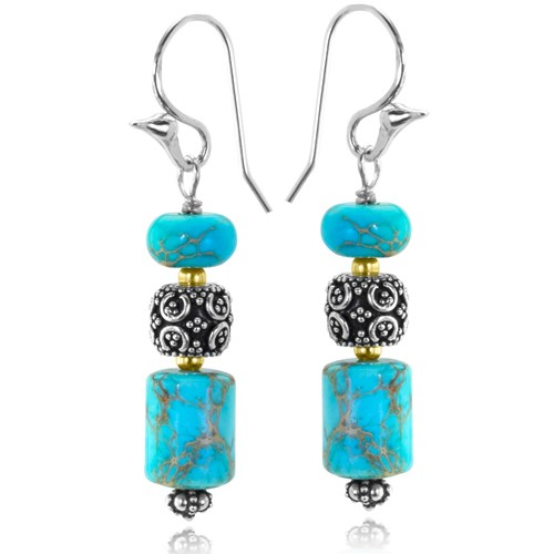 The Goddess Collection Turquoise Earrings