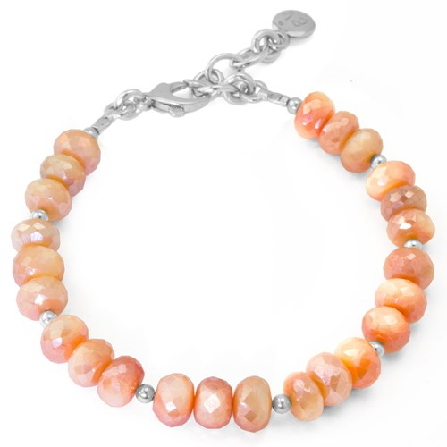 The Goddess Collection Peach Coated Quartz Bracelet