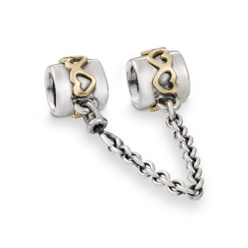PANDORA Heart with 14K Safety Chain