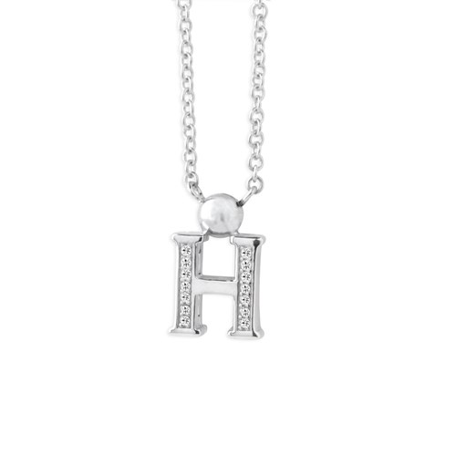 Petra Azar Mini Initial H Necklace