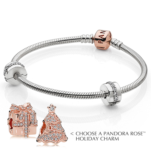 Pandora Christmas Gift Set: PANDORA Rose™ Iconic Bracelet Holiday Gift Set