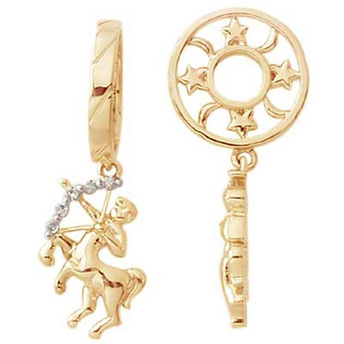 Storywheels SAGITTARIUS Diamond 14K Gold Dangle Charm