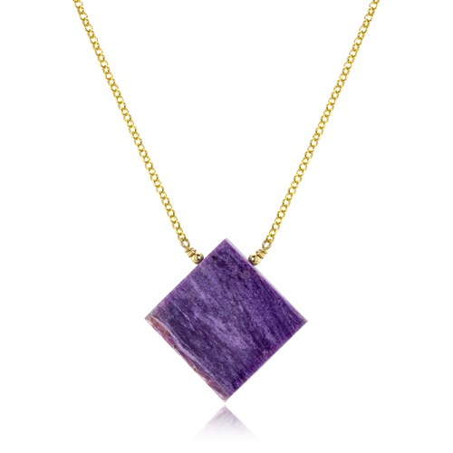 The Goddess Collection Charoite Necklace 10779N