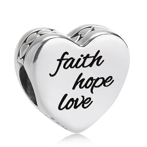 PANDORA Faith, Hope, Love Charm