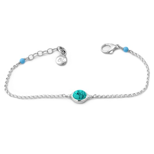 Elisa Ilana Turquoise and Sterling Silver Bracelet