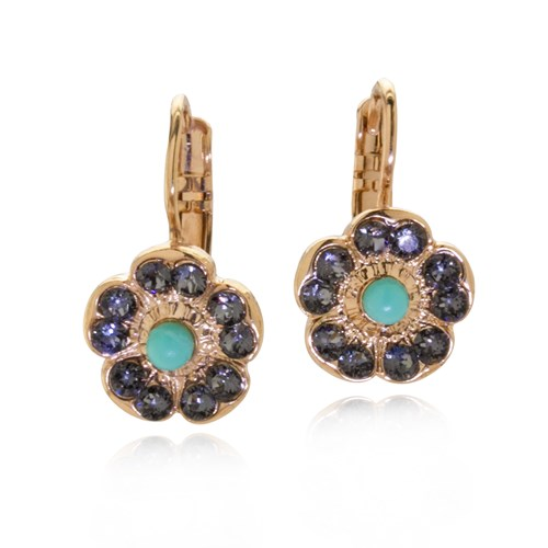 Mariana Zanzibar Flower Drop Earrings E-1220-1081-RG6
