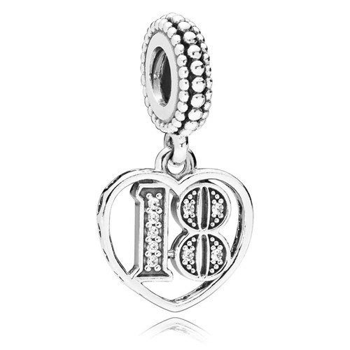 PANDORA 18 Years of Love Dangle Charm 797262CZ
