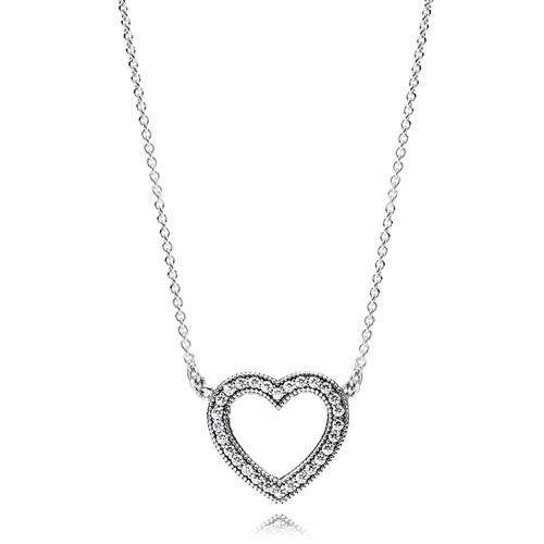 PANDORA Loving Hearts of PANDORA, Clear CZ Necklace
