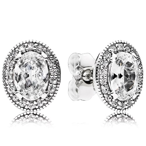 PANDORA Vintage Elegance CZ Stud Earrings
