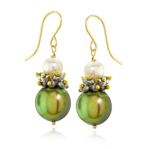 The Goddess Collection Pearl Cluster Earrings  10737E