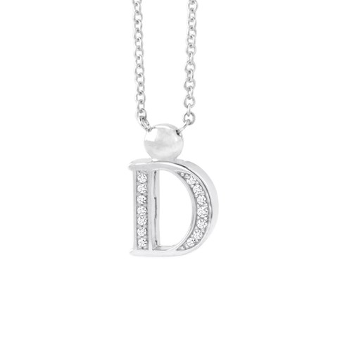 Petra Azar Mini Initial D Necklace