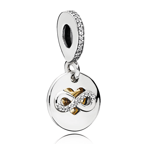 PANDORA Heart of Infinity Dangle CZ Charm