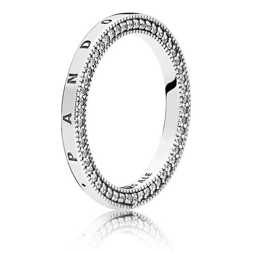 9124615af PANDORA Signature Hearts of PANDORA Ring 197437CZ