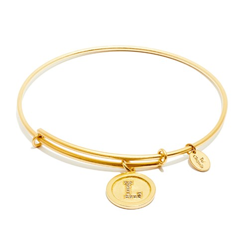 Chrysalis Initial L Gold Bangle