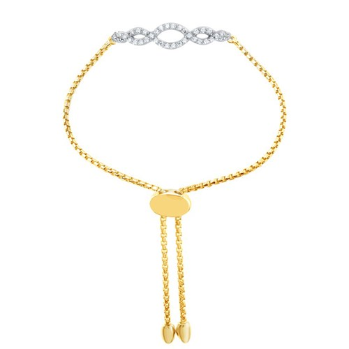 Natasha CZ Friendship Bracelet Gold