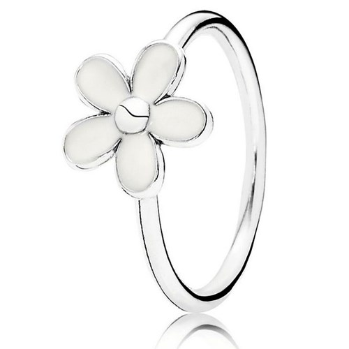 PANDORA Darling Daisy with White Enamel Ring