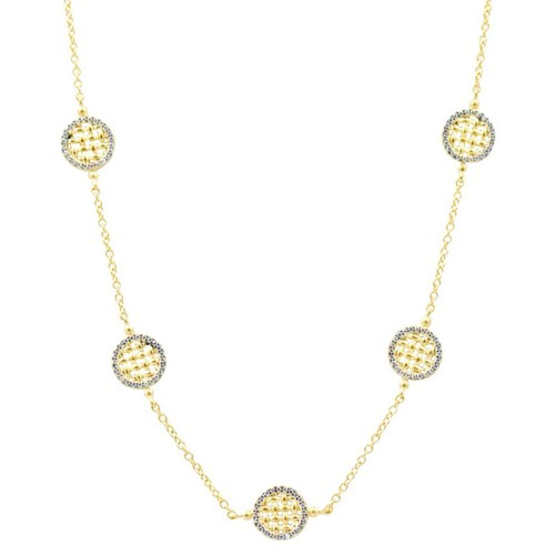 Freida Rothman Lattice Motif Station Necklace