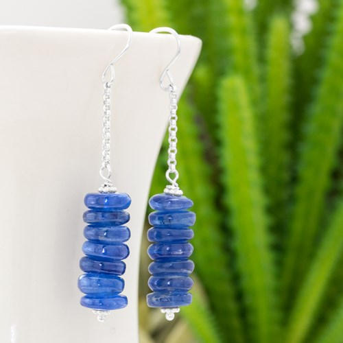Smooth Kyanite Stick Earrings 10982E