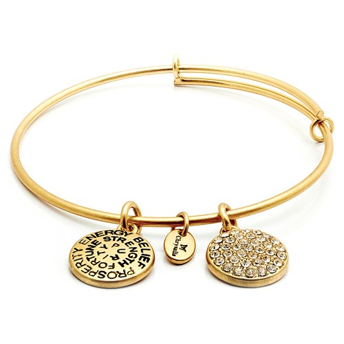Chrysalis APRIL Diamond Crystal Gold Bangle