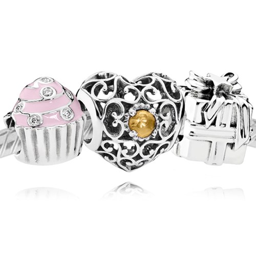 PANDORA Happy November Birthday Charm Set