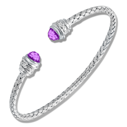 Sunset Amethyst w/Diamond Cuff Bracelet