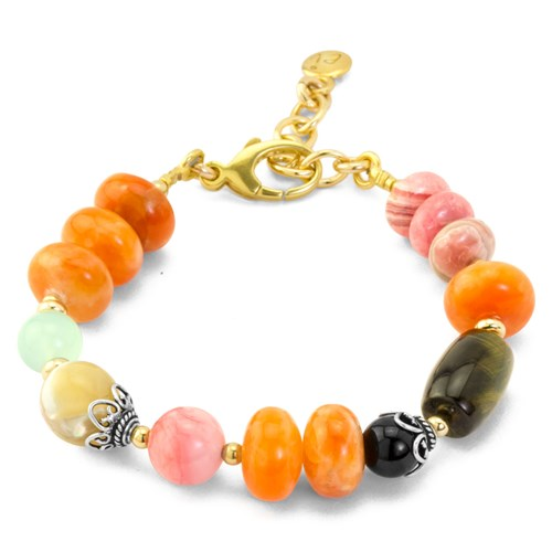 Impressionist Collection Carnelian & Pink Opal Bracelet 10850B1