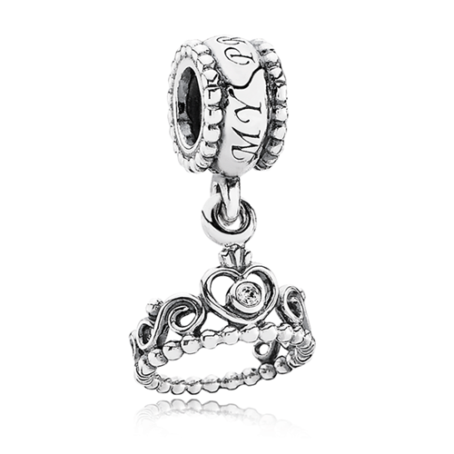PANDORA My Princess Crown CZ Dangle Charm