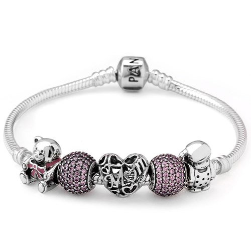 PANDORA A Mother's Love from Daughter Charm Bracelet