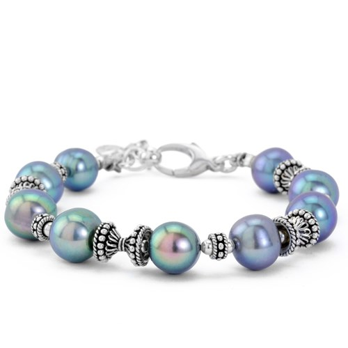 The Goddess Collection Grey Pearl Bracelet